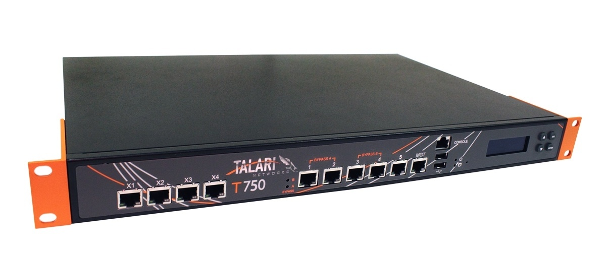 The T750 is a 1U rack-mountable appliance that supports WAN bandwidth aggregation up to 120 Mbps downstream / 60 Mbps upstream even while doing 128-bit AES encryption.