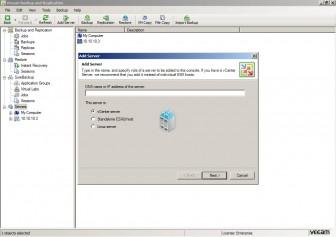veeam backup and replication add server