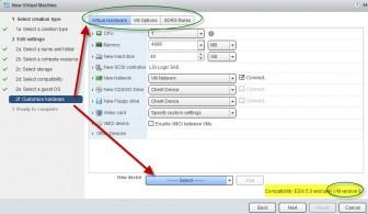 vSphere Web client VM Cutomize hardware