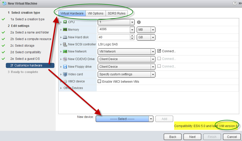 How to create new VM in vSphere 5 1 Web Client - Blog