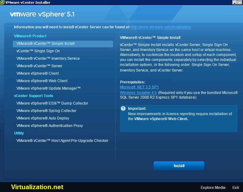 VMware vSphere 5.1 vCenter
