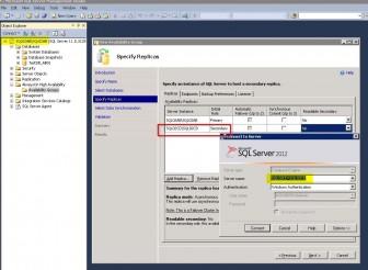 SQL 2012 AVG Wizard database replica