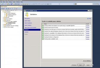 SQL 2012 AlwaysOn AVG Wizard validation